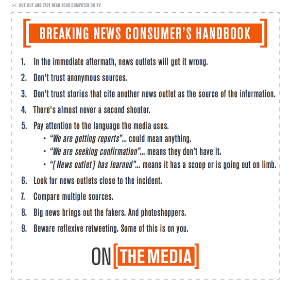Wherever news is breaking, @OnTheMedia's breaking news guide is there to help you. http://t.co/3U507nJKVc