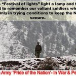 """RT @adgpi: This """"Festival of lights"""" light a lamp & take a moment to remember our valiant soldiers. http://t.co/mJ39SLjQxe"""