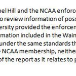 Joint statement from UNC and NCAA regarding Wainstein Report: http://t.co/foKSrmW0o4