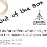Dear #Seattle, join us for great #coffee , #wine , and company at @BroadcastCoffee (Nov 6) http://t.co/8SumPVNFUi http://t.co/D0fncvF8Ev