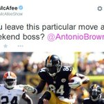 RT @SportsCenter: Colts punter Pat McAfee has just one, simple request for Antonio Brown this weekend. STORY: http://t.co/6ceY3KGC0d http://t.co/7h7QGx5Fmx