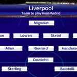RT @SkySportsNewsHQ: Heres how @LFC line up against @realmadrid at Anfield. #SSNHQ http://t.co/nizL4ERq0k