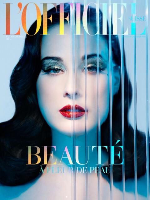 Dita Von Teese @ditavonteese: The cover of L'Officiel Beauté Suisse by Ali Mahdavi, master of light and glamour activist! http://t.co/Bgaf3efLcu