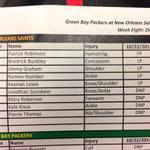 PHOTO quite a lengthy Saints injury list today: @wdsu @WDSUSports http://t.co/DkEVXkrub5