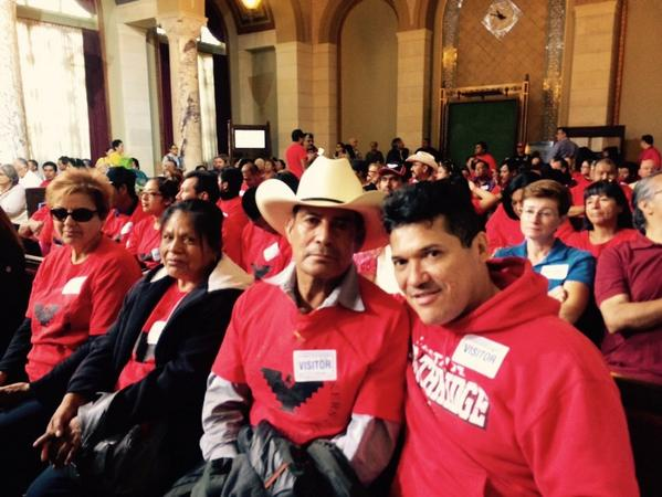 @UFWupdates farmworkers in full force 2 demand Gerawan respect workrs! @UNITEHERE11 @UFCW770 @PaulKoretzCD5 http://t.co/GhWwpB3tK3