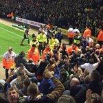 Leeds fans celebrate Doukaras equaliser #lufc #ncfc #lufcawaydays http://t.co/x0PGRxrG11