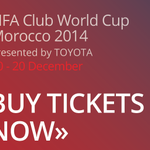 #ClubWC TICKETS: @VISA card holders can now order tickets for #Morocco2014 to see the stars http://t.co/7OhpywuCvd