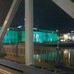 City Hall turned green for @CorkCityFC #turncorkgreen http://t.co/X3VDvyWK7i