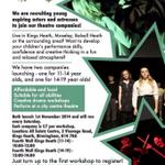 Were launching 2 new theatre companies in Kings Heath, #Birmingham for those aged 11-19! Interested? DM us for info http://t.co/Dbxb6MA5XT
