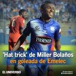 RT @marcadorec: ¡FINAL DEL PARTIDO! #Emelec goleó 5-2 a la #UCatólica con hat-trick de Miller Bolaños http://t.co/10Buwhodaj http://t.co/1aLk2cBUzT