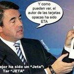 RT @EsppeonzAguirre: Acebes: ¡Ha sido LA ETA! TarjETA http://t.co/qZ01R1o0YB