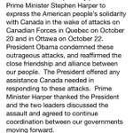RT @Alex_Panetta: The White House summary of the phone call between Barack Obama and Stephen Harper. http://t.co/SWTozxwJxR