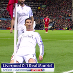 RT @SkySportsCL: GOAL! Liverpool 0 – 1 Real Madrid (Ronaldo) http://t.co/QkGFftrQ7Z #SkyCL #UCL http://t.co/zKbIP51nis