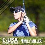 RT @MTAthletics: .@MT_WGolfs Emily Miller has been named #CUSA Player of the Week. Story: http://t.co/stmt5A6eD5 http://t.co/o5V5JVa2UT