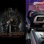 """RT @Avianca: Disfruta la temporada completa de """"Game of Thrones"""" en nuestro sistema de entretenimiento a bordo. http://t.co/KVRT2lbkhZ"""
