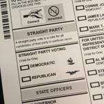 Can anyone explain these party mascots on #Oklahomas ballot? Never heard of a Democratic rooster before http://t.co/XfnGgFM8SY