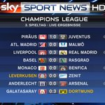 RT @SkySportNewsHD: Halbzeit in der Champions League. #ssnhd #SkyCL http://t.co/XB3BMdaKEy