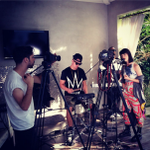 RT @kimbramusic: Good times shooting a stripped back backyard session for @PerezHilton 's Perez TV today. #COMINGSOON