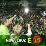 Alô, Nova Cruz! A #CaravanDaMudança tá movimentando a cidade. Venha com a gente fazer um RN melhor de se viver! É 15! http://t.co/PBLaH5gB0G