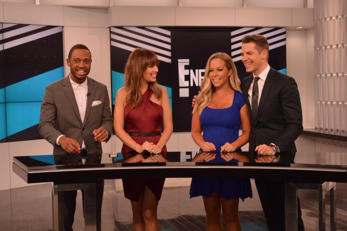 Kendra Wilkinson @KendraWilkinson: Had a much needed laugh with these guys cohosting @ENews today lol @TerrenceJ @IAmCattSadler @JasonKennedy1 http://t.co/WgYlVkWkHu