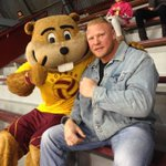 RT @GopherVBall: Thanks to @BrockLesnar for coming out to support the #Gophers at tonights match! http://t.co/3ldJu4ilcp
