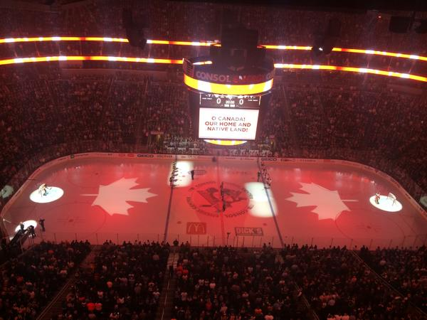 Some things are bigger than hockey. Tonight Pens fans sang along with the Canadian anthem: http://t.co/oVUE5ApNnx http://t.co/MAkXsWNaQR
