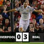 RT @EurosportCom_FR: Cest fini à Anfield ! Large victoire du Real Madrid 3 à 0 grâce à un doublé de Benzema et un but de CR7 ! #LIVRMA http://t.co/Zh2MXhzH21