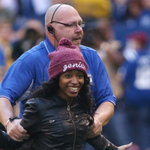 Fan who rushed onto the Colts field was a football player. Really, she was - and a good one. http://t.co/athR4EVEIZ http://t.co/6PuzYsI4ML