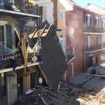RT @lunanola: Photo taken by a neighbor of collapsed bldg @ 810 Royal St. VCC notes it was built in 1801. http://t.co/5V9cD9nwLD http://t.co/OlpBWK3T79