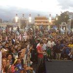 Praça da Estação, em Belo Horizonte, lotada para o comício com Aécio Neves.#Aécio45 http://t.co/p2DEsapQ81