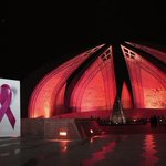 RT @RabiaAnumm: Pakistan Monument in Isb Turns Pink in Support of the Pink ribbon Campaign! Wohoo http://t.co/ASUlLUtoMj