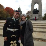 On Sunday, we asked a very handsome guard for a picture with my friend visiting from Cali - RIP Nathan Cirillo http://t.co/q80EZ6nwmo