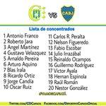 RT @CDCapiata: Lista de concentrados para el partido de vuelta por 8vos de final de la Copa Total Sudamericana. #FuerzaCapiatá. http://t.co/1CNhUNx9Bm