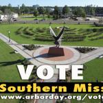 Vote for #SouthernMIss 'til 11:59 pm in the Celebrate Arbor Day Event Contest. http://t.co/UjOlTbp9Y4. #SMTTT http://t.co/wgoyPx5RSh
