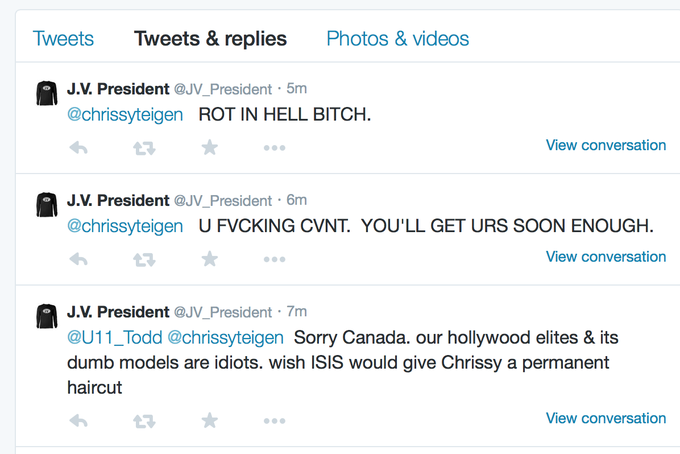 christine teigen @chrissyteigen: and this is where @twitter needs to step their game up. http://t.co/oGmTXgEwdL