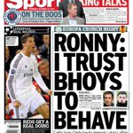 Celtic employee attacked and the Record wants Ronny to impose rules on the Celtic players. You couldnt make it up. http://t.co/BQQAVl7o5m