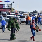 At the K: Incredible Hulk and Spiderman will be at tonights game between #Royals and #SFGiants #WorldSeries http://t.co/g9a7JVYqcg
