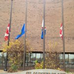 RT @StAlbertLibrary: Flags at half mast at #StAlbert Place in respect for Cpl. Nathan Cirillo http://t.co/F0g14pMY6Q http://t.co/Dw8cDeA4Rb #OttawaShooting