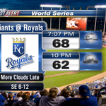 RT @JayPraterCBM: #TakeTheCrown Game 2 forecast: Rain should hold off until after the game. #GoRoyals http://t.co/n8VGDnY6xp