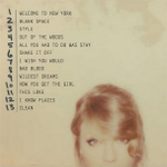 RT @BigMachine: The full track list! Pre-order @taylorswift13 NEW album 1989 at @iTunes here: http://t.co/cTAjt6mq87 http://t.co/8GiRsFZVIj