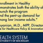 RT @UMHealthSystem: What made Michigans #Medicaid expansion successful? New #umich analysis: http://t.co/3nHibfEXPS http://t.co/BYbKyoyiOO