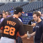 RT @AlexPavlovic: Posey went over to talk to Phillip Phillips, tonights anthem singer. Theyre both from Leesburg, Georgia: http://t.co/DeED5GHziu