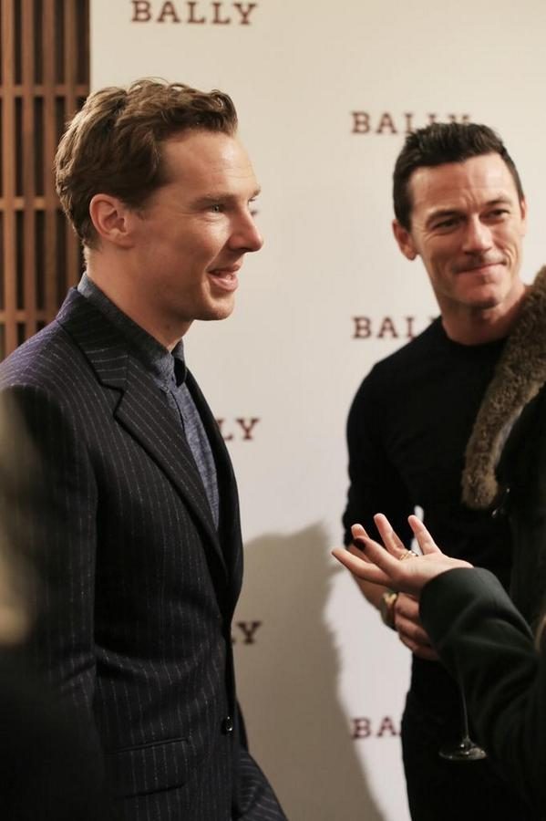 Both larger than life, these two - Benedict Cumberbatch and Luke Evans