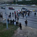 Happening right now folks from ATL are blocking the highway saying #blacklivesmatter http://t.co/UHDEKFUfsy