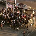 RT @SkyFOXSTL: Ferguson demonstrators at West Florissant and Canfield. http://t.co/RiAluNx6Ni