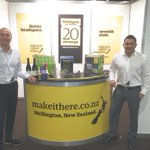 Great to be in #Melbourne @auscontact show promoting #Wellington as a great contact centre location http://t.co/VQojSR0gLE