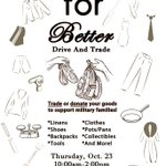 RT @iServeTAMIU: Dont forget to bring your unwanted, used goods tomorrow! Clothes, shoes, pots/pans/dishes, linens, etc. #TAMIU http://t.co/ydivMAQ0VP