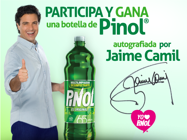 retuitea esto y ganarás instantáneamente en tu Timeline un tuit con la firma de Jaime Camil en un anuncio de Pinol: http://t.co/QWTlv9Cyr8