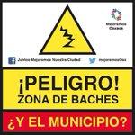 SÚMATE P/MEJORAR NUESTRA CIUDAD Y PEDIR A @GobCdOax SOLUCIONE PROBLEMA #BACHES #Oaxaca PIDE O REPRODUCE LONA http://t.co/2OQV1kg6Pr