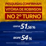 RT @RobinsonFaria: Pesquisas confirmam: Robinson será o GOVERNADOR do Rio Grande do Norte! #VitóriaRobinson55 #EuAcreditoRobinson55 http://t.co/T8iPiG0dCB